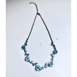 Sparkly Crystal Floral Necklace
